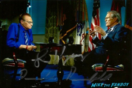 Larry King signed autograph promo photograph hot cnn talk show host rare