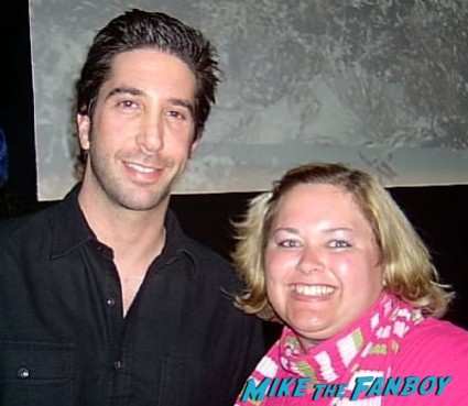 david schwimmer fan photo signing autographs for fans at sundace rare promo hot ross gellar
