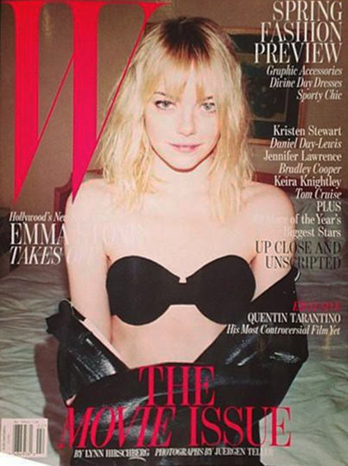 Emma Stone W Magazine February 2013 magazine cover rare promo photo shoot hot sexy gangster squad easy a