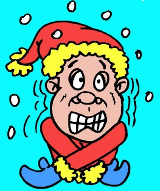 man freezing in the snow clip art cartoon rare promo drawing hot gloves mittens