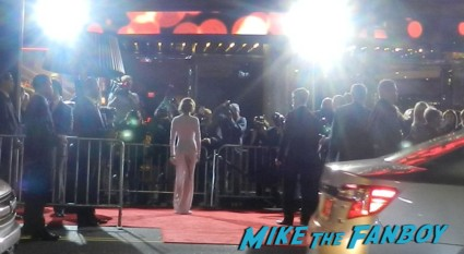 Mireille Enos arriving to the Gangster Squad Movie Premiere red carpet marquee with sean penn ryan gosling emma stone josh brolin