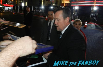 robert patrick signing autographs at the Gangster Squad Movie Premiere red carpet marquee with sean penn ryan gosling emma stone josh brolin