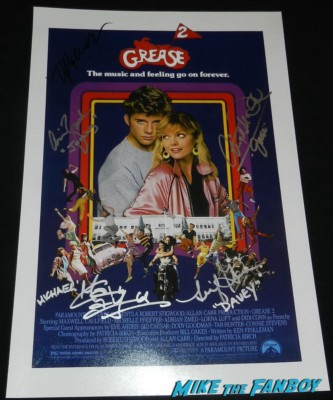 grease 2 signed autograph movie poster promo michelle pfeiffer maxwell caulfield leif  green chris Mcdonald adrian zmed