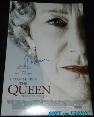 the queen helen mirren signed autograph mini movie poster promo helen mirren signing autograph walk of fame star ceremony 067