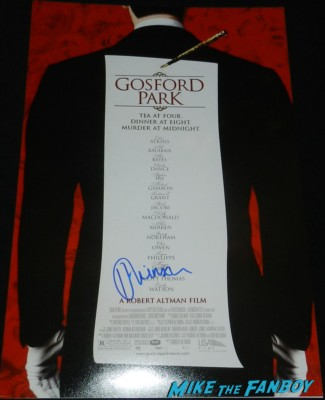 helen mirren signed autograph gosford park promo mini poster rare prom signed autograph signing autograph walk of fame star ceremony 068