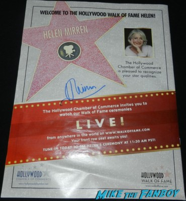helen mirren signed walk of fame advertisement ad rare star ceremony helen mirren signed autograph gosford park promo mini poster rare prom signed autograph signing autograph walk of fame star ceremony 068signing autograph walk of fame star ceremony 071