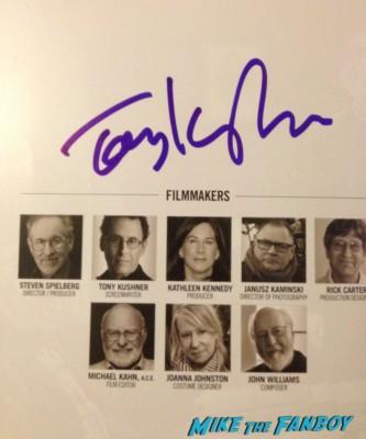 Tony Kushner signed autograph signature rare photo photograph shoot rare program new york film critics association