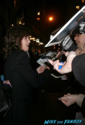 Sally Field signing autographs for fans at the new york film critics awards signed photo murphy's romance soapdish surrender rare