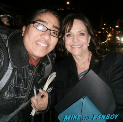sally field fan photo rare promo Sally Field signing autographs for fans at the new york film critics awards signed photo murphy's romance soapdish surrender rare