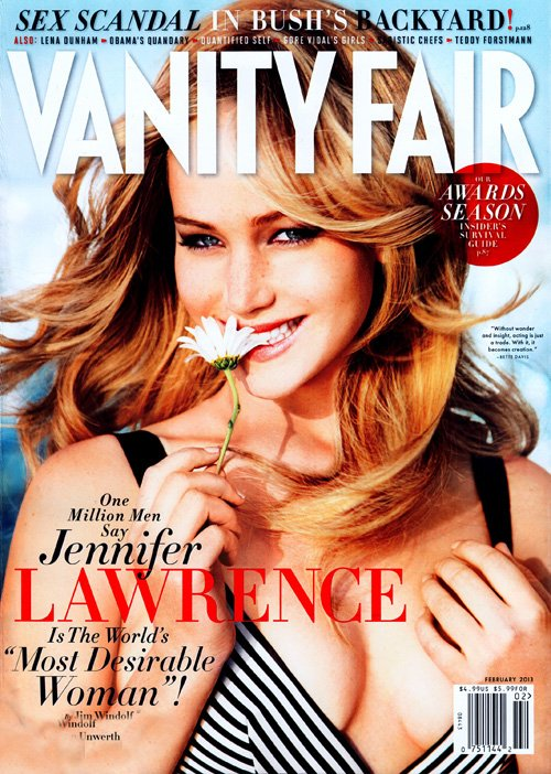 jennifer lawrence vanity fair magazine february 2013 cover photo shoot rare promo hot hunger games silver linings playbook star