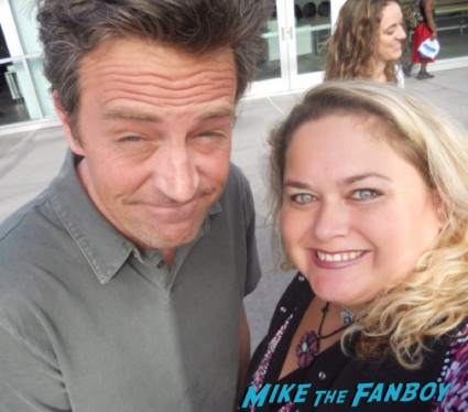 Matthew perry fan photo rare promo signing autographs for fans friends star going on rare mr. sunshine