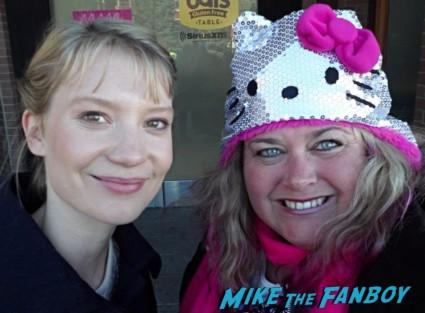 mia wasikowska  Fan Photo Sundance Film Festival signed autograph rare promo hot sexy star