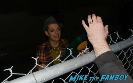 Adrian Young from no doubt signing autographs for fans after an outdoor concert no doubt signing autographs at jimmy kimmel live 010