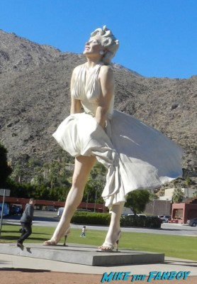 giant statue of marilyn monroe in downtown palm springs international film festival rare