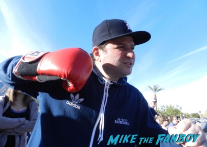 billy beer wearing boxing gloves for david o russell palm springs film festival 2013 signing autographs diane lane 020