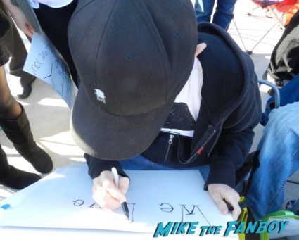 scotty making signs for people at the palm springs film festival 2013 signing autographs diane lane 021