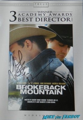 ang lee signed autograph signature for your consideration brokeback mountain dvd cover pamphlet rare