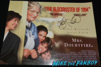 sally field signed autograph mrs. doubtfire mini movie poster signing autographs at the palm springs film festival 2013 signing autographs diane lane 031