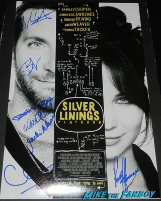 cast signed autograph silver linings playbook mini movie poster sexy bradley cooper signing autographs at the palm springs film festival 2013 signing autographs silver linings playbook
