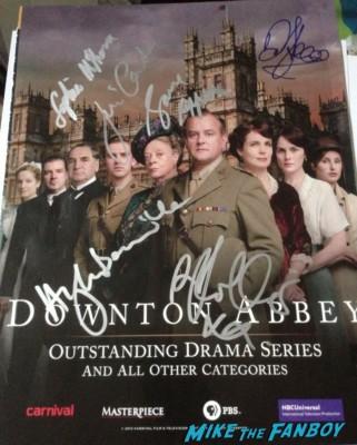 downton abbey signed autograph cast photo rare promo Jim Carter (Carson), Robert James Collier (Thomas), Joanne Froggatt (Anne) and Sophie McShera (Daisy)  hugh bonneville