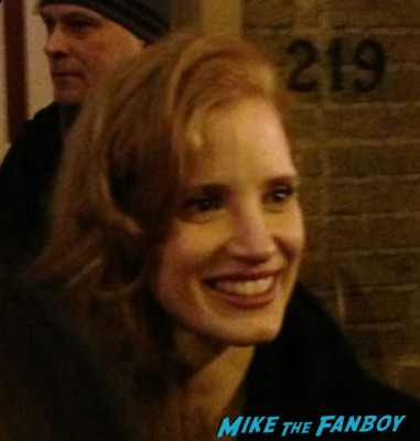 sexy jessica chastain signing autographs signed zero dark thirty rare promo hot sexy british stay the heiress broadway