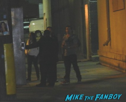 marky mark wahlberg leaving a talk show taping and saying goodbye to fans rare