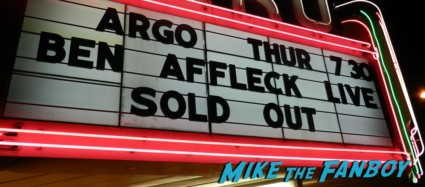 Ben Affleck argo q and a marquee rare promo dissing fans  signing autographs rare promo aero theater