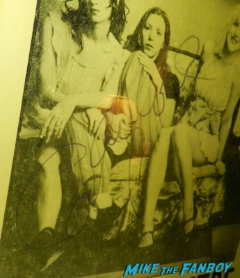 courtney love signed autograph hole concert poster agora theatre rare promo yellow promo poster