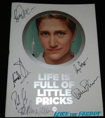 nurse jackie signed autograph season 1 press kit rare promo eddie falco anna deveare smith paul schulze autograph cast photo