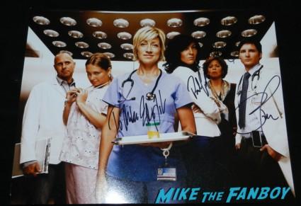 nurse jackie signed autograph season 3 cast photo rare promo eddie falco anna deveare smith paul schulze autograph cast photo