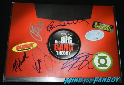 big bang theory emmy award laptop promo signed autograph cast simon helberg johnny galecki kunal nayyar melissa rauch