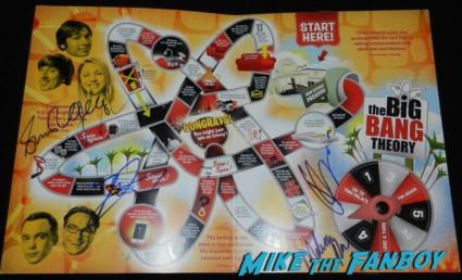 big bang theory emmy award board game promo signed autograph cast simon helberg johnny galecki kunal nayyar melissa rauch