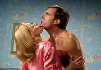 steve carell 40 year old virgin rare promo press still hot elizabeth banks rare lip bite promo hot