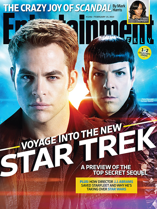 entertainment weekly star trek into darkness magazine cover rare chris pine zachary quinto rare hottie rare sex promo