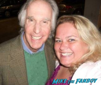 Henry Winkler fan photo signing autographs for fans rare now 2013 rare promo photo signed autograph