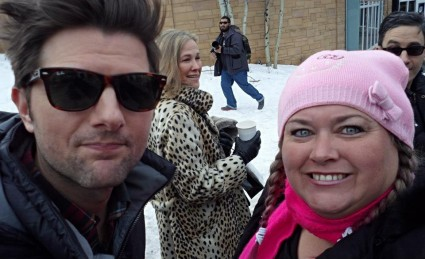 Adam Scott And Catherine O'Hara  fan photo signing autographs for fans rare promo now and then hot sexy 2013 sundance