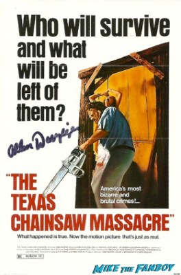 Allen Danzinger signed autograph leatherface texas chainsaw massacre poster photo rare