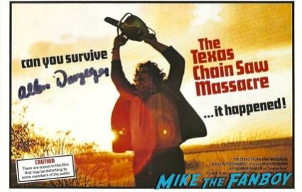 Allen Danzinger signed autograph leatherface texas chainsaw massacre poster photo rare