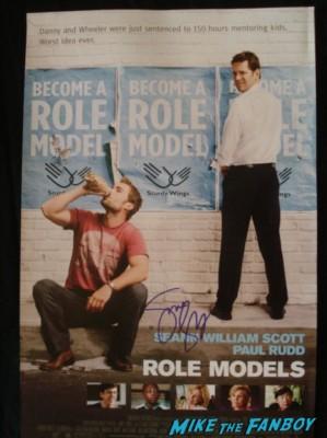 role models signed autograph promo mini movie poster signed autograph jane lynch paul rudd rare