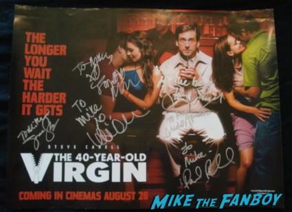 jane lynch signed autograph 40 year old virgin uk quad mini movie poster rare steve carell