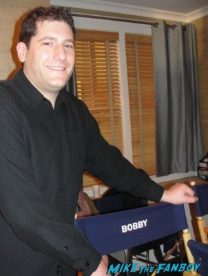 cougar town set visit bobby cobb director's chair on location with courteney cox josh hopkins cougar town set visit location movie theater ATM Machine jules cobb reality street rare