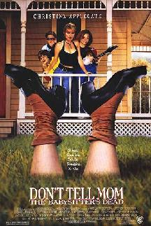 Don't_Tell_Mom_The_Babysitters_Dead rare promo movie poster promo keith coogan christina applegate