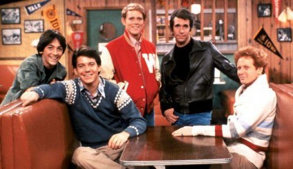 Happy Days cast photo original press promo still ron howard scott baio anson williams Henry Winkler