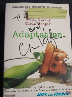 charlie kaufman signed signature autograph adaptation dvd cover rare promo nicholas cage movie rare promo