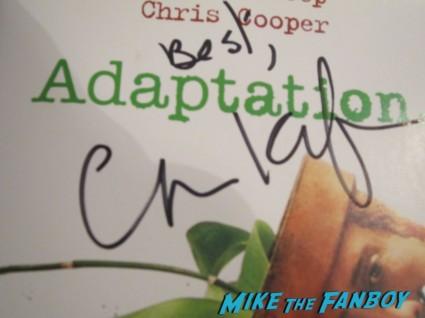 charlie kaufman signed signature autograph adaptation dvd cover rare promo nicholas cage movie rare promo
