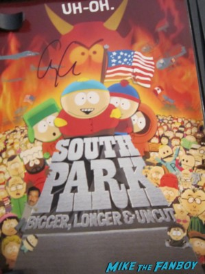 george clooney signed autograph south park bigger longer and uncut signed dvd poster rare promo hot signature signed cart man