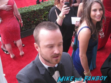 sexy aaron paul signing autographs at the sag awards on the red carpet at the sag awards red carpet rare anne hathaway waving to fans at the sag awards red carpet 19th annual rare sexy morena baccarin on the 19th annual sag awards red carpet with hugh jackman ben affleck jennifer garner rare promo hot
