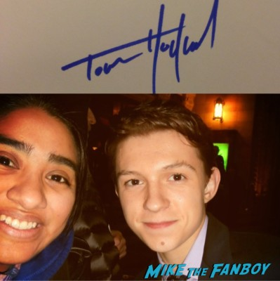 tom holland signed autograph fan photo rare the impossible child actor rare promo signature