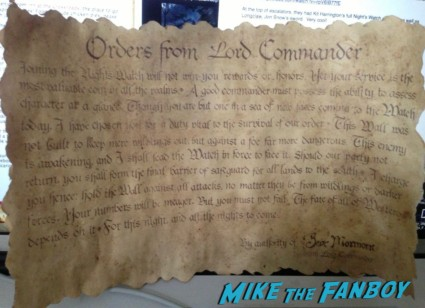 game of thrones scroll at the new york fan event in new york city prop replica rare