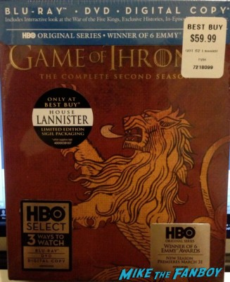 game of thrones season 2 on blu ray home lanister limited edition packaging
